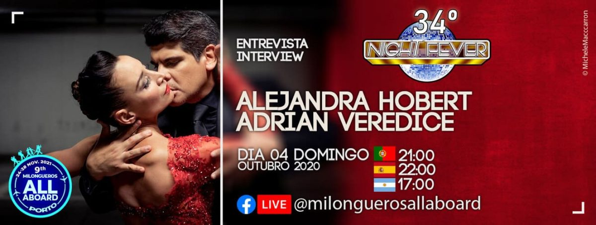 tango interview to Adrian Veredice and Alejandra Hobert by portuguese tango dancers - Isabel Costa and Nelson Pinto