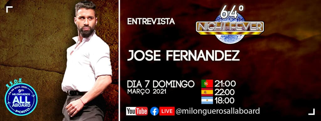 Jose Fernandez, campeon del mundo de tango es entrevistado por Isabel Costa y Nelson Pinto