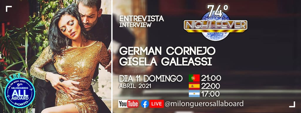 german cornejo and gisela galeassi are interviewed by portuguese tango dancers - Isabel Costa and Nelson Pinto