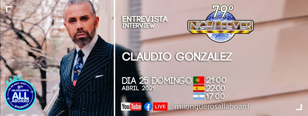 Claudio Gonzalez is interviewed by portuguese tango dancers - Isabel Costa and Nelosn Pinto