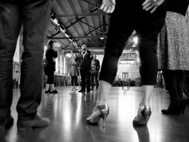 aula de tango no festival all aboard com isabel e nelson